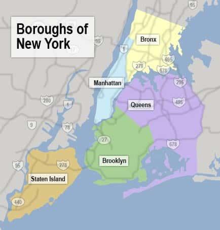 Boroughs of NY