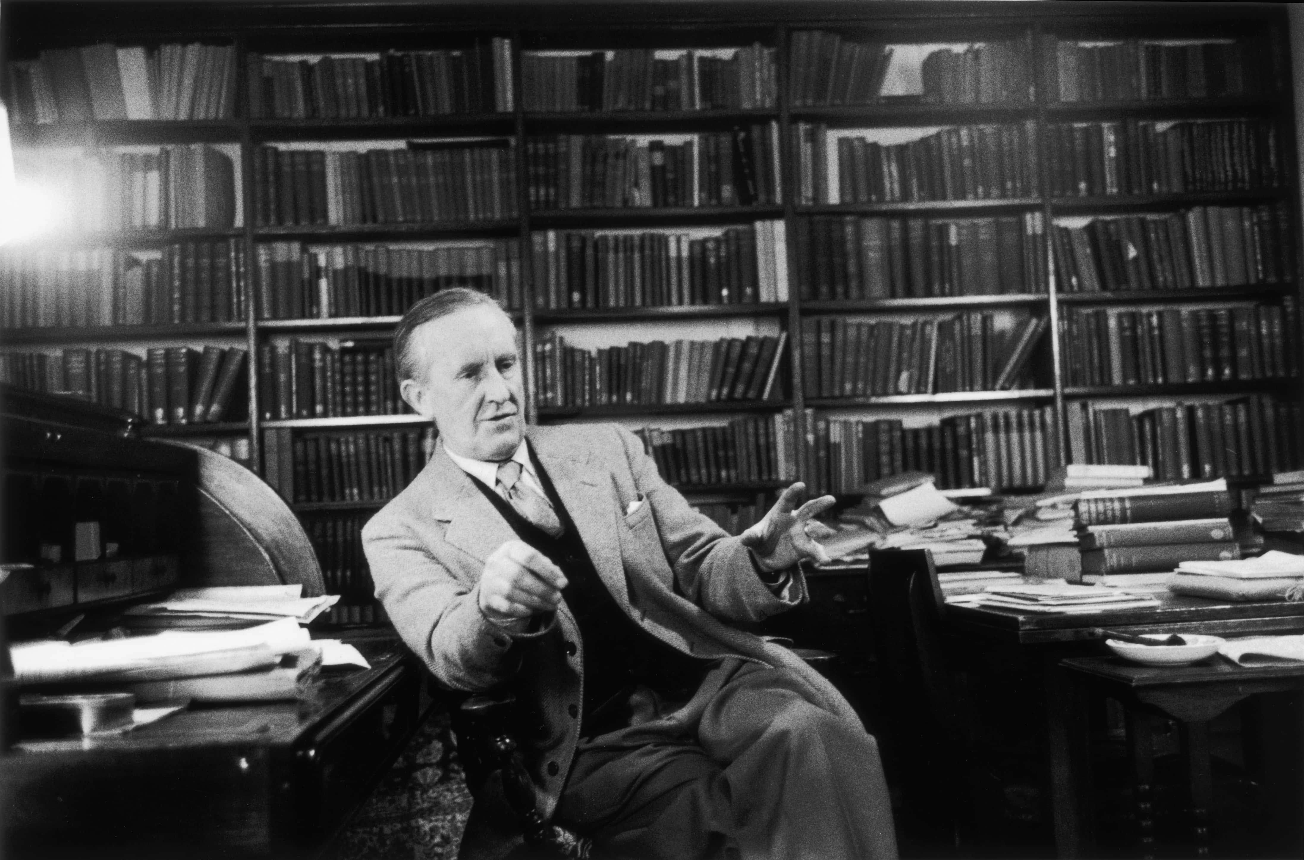 J R R Tolkien.