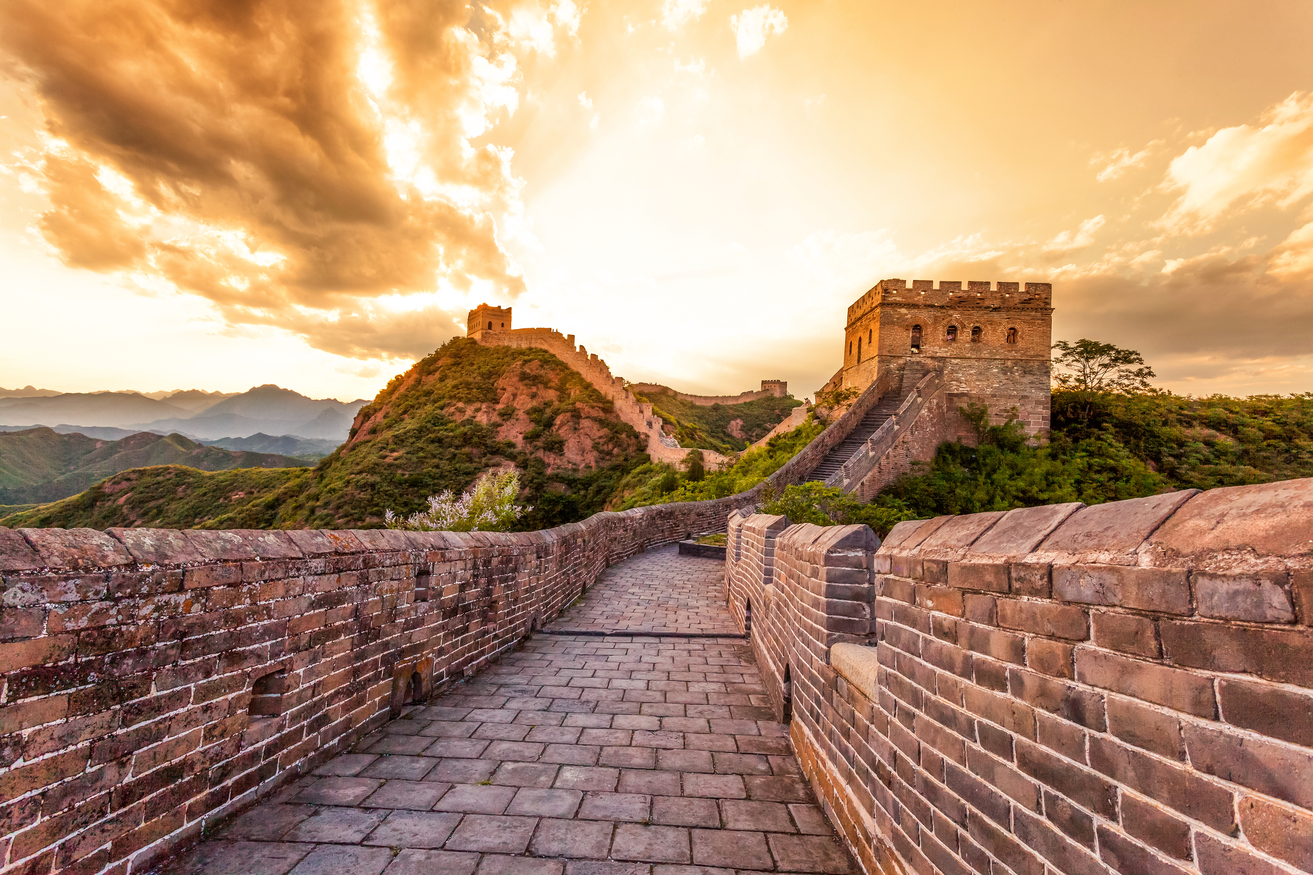 Picture from the Great Wall in China
