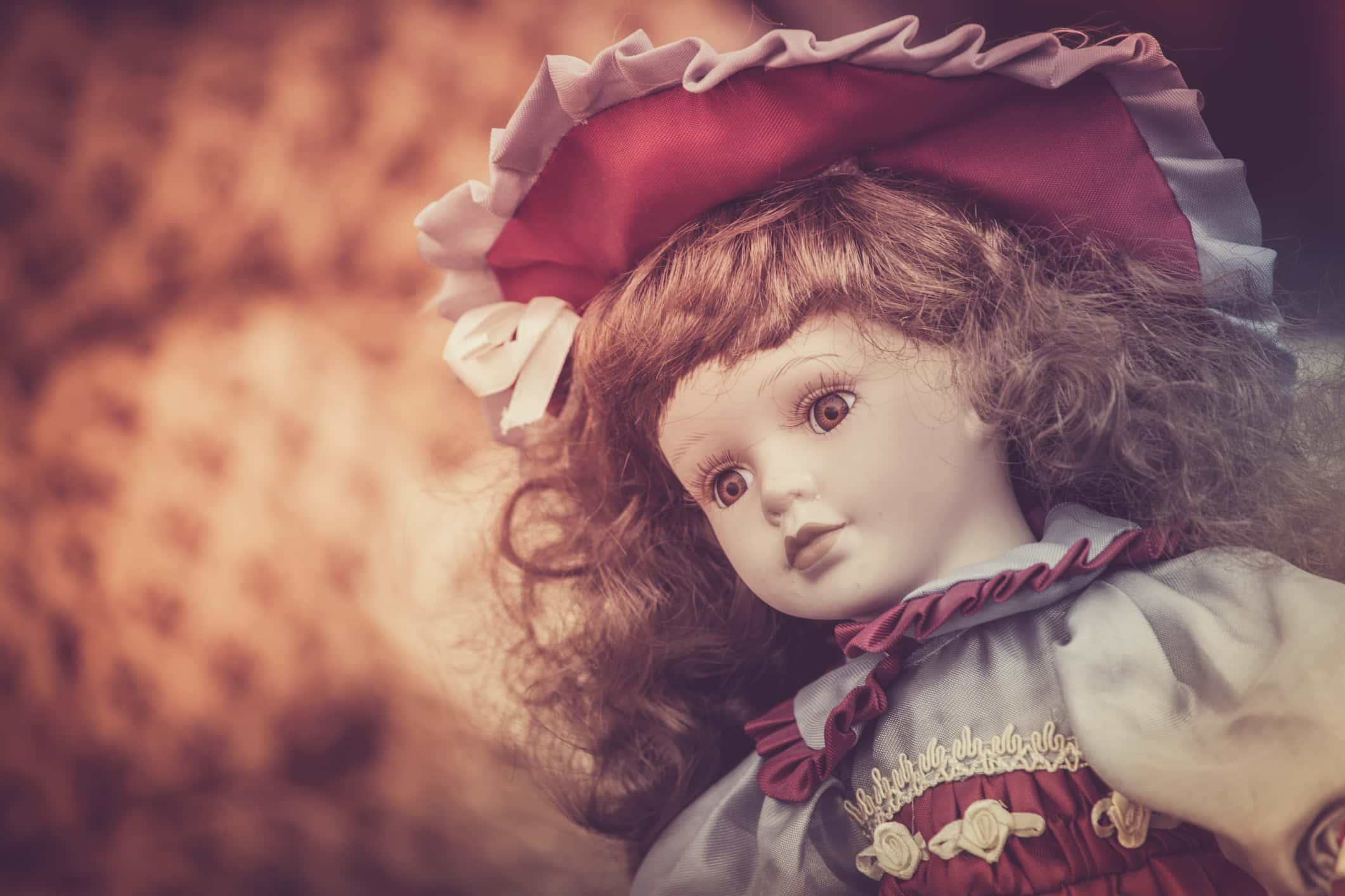 Vintage porcelain doll.