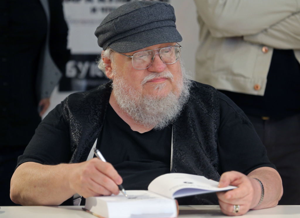 Game of Thrones author George R.R. Martin meets with readers.
