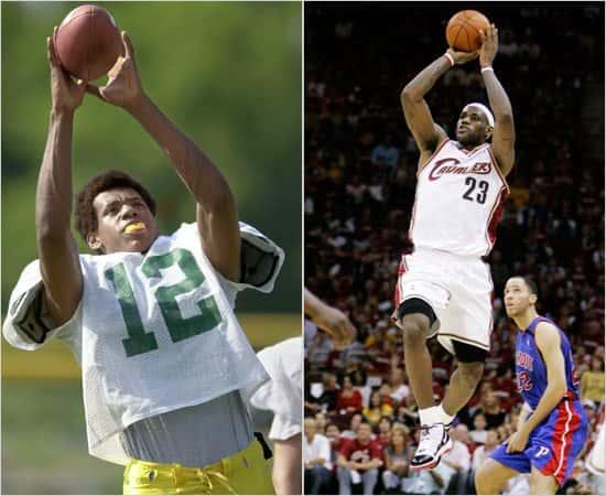 Lebron Playing Basketball As A Kid