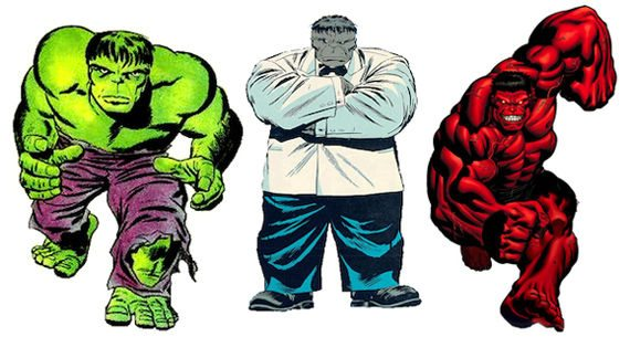 Risultati immagini per hulk multiple personalities
