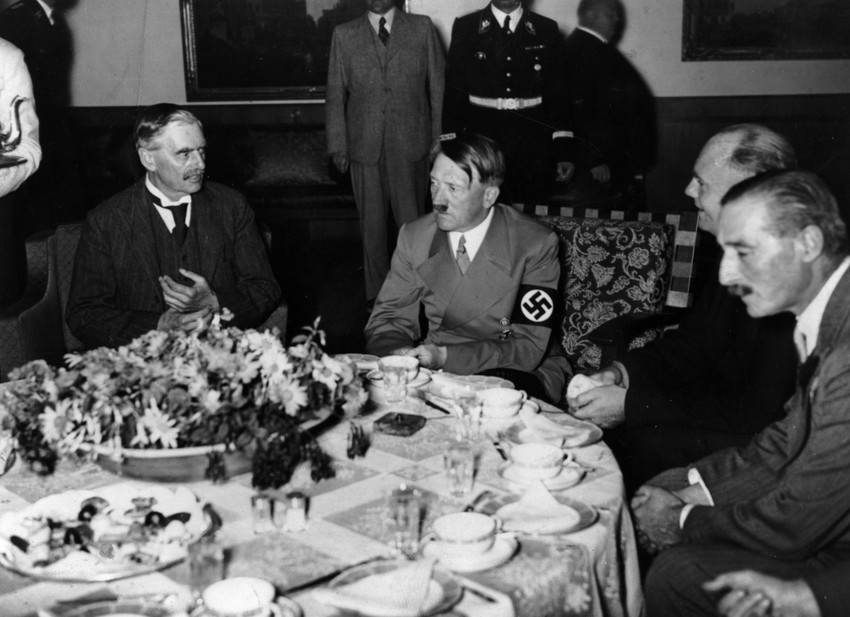 World War 2 factsAppeasement Talks between Hitler and Chamberlain.