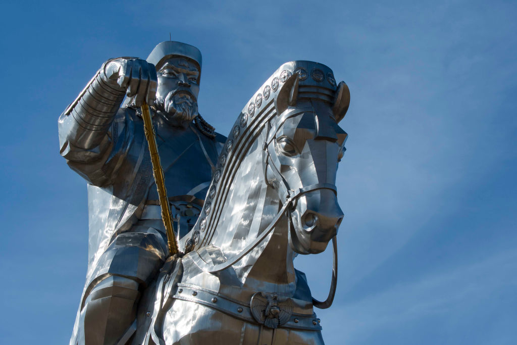 Close-up of the Genghis Khan Equestrian Statue.