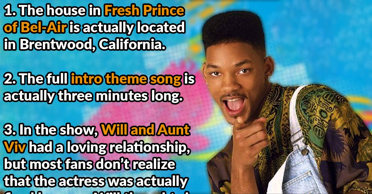 42 Behind The Scenes Facts About The Fresh Prince Of Bel Air