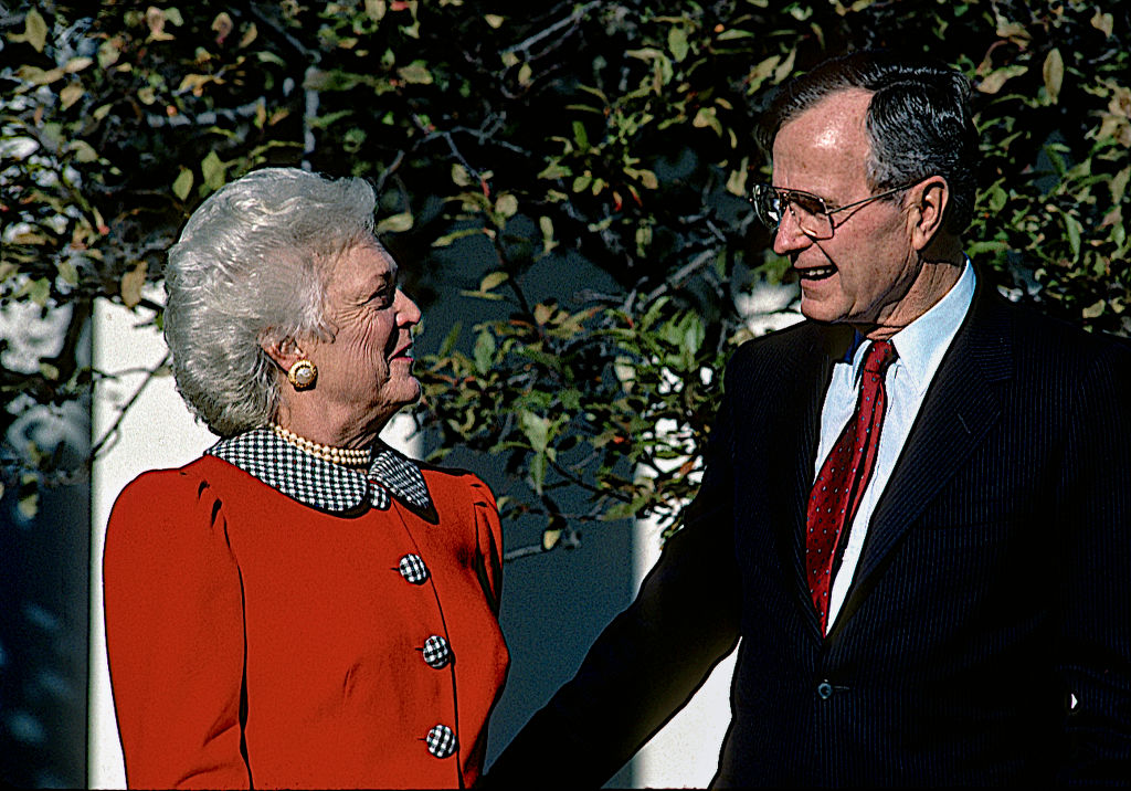 President George H.W. Bush And Barbara Bush.