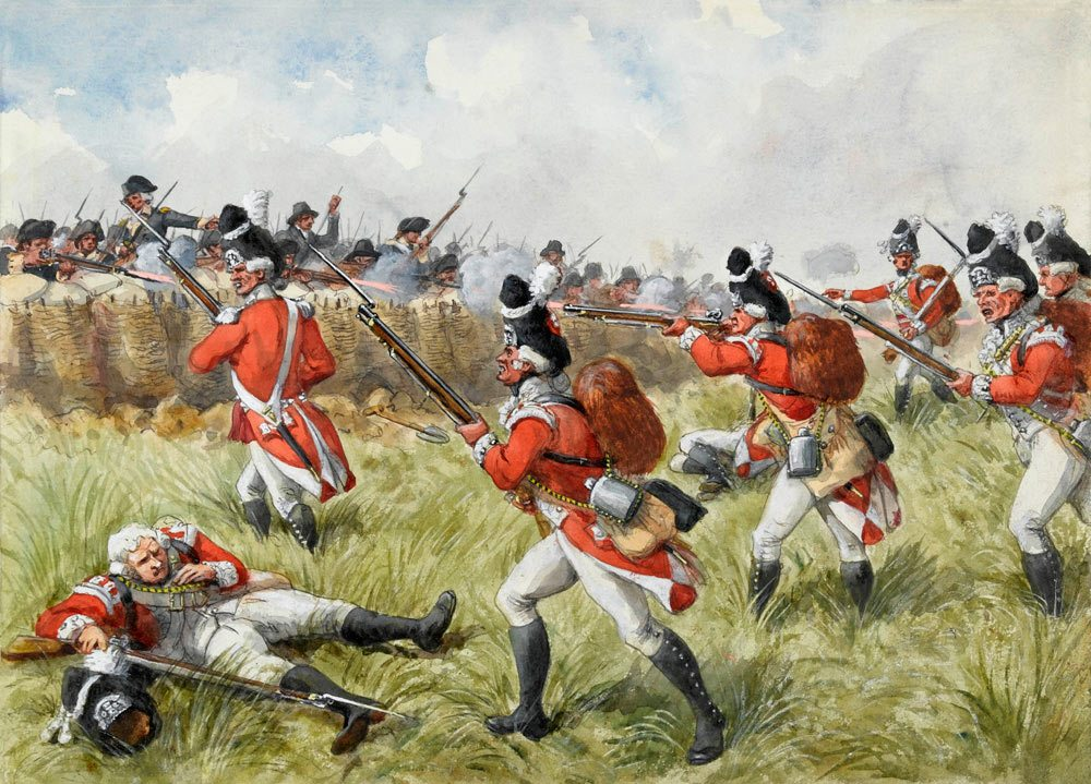 redcoats patriots and bunker hill essay For example, in the beginning of the story, during the town hall meeting burwell was saying that we killed 700 of enemy at the bunker hill and they were just kept coming, but in reality they killed 226 of them.