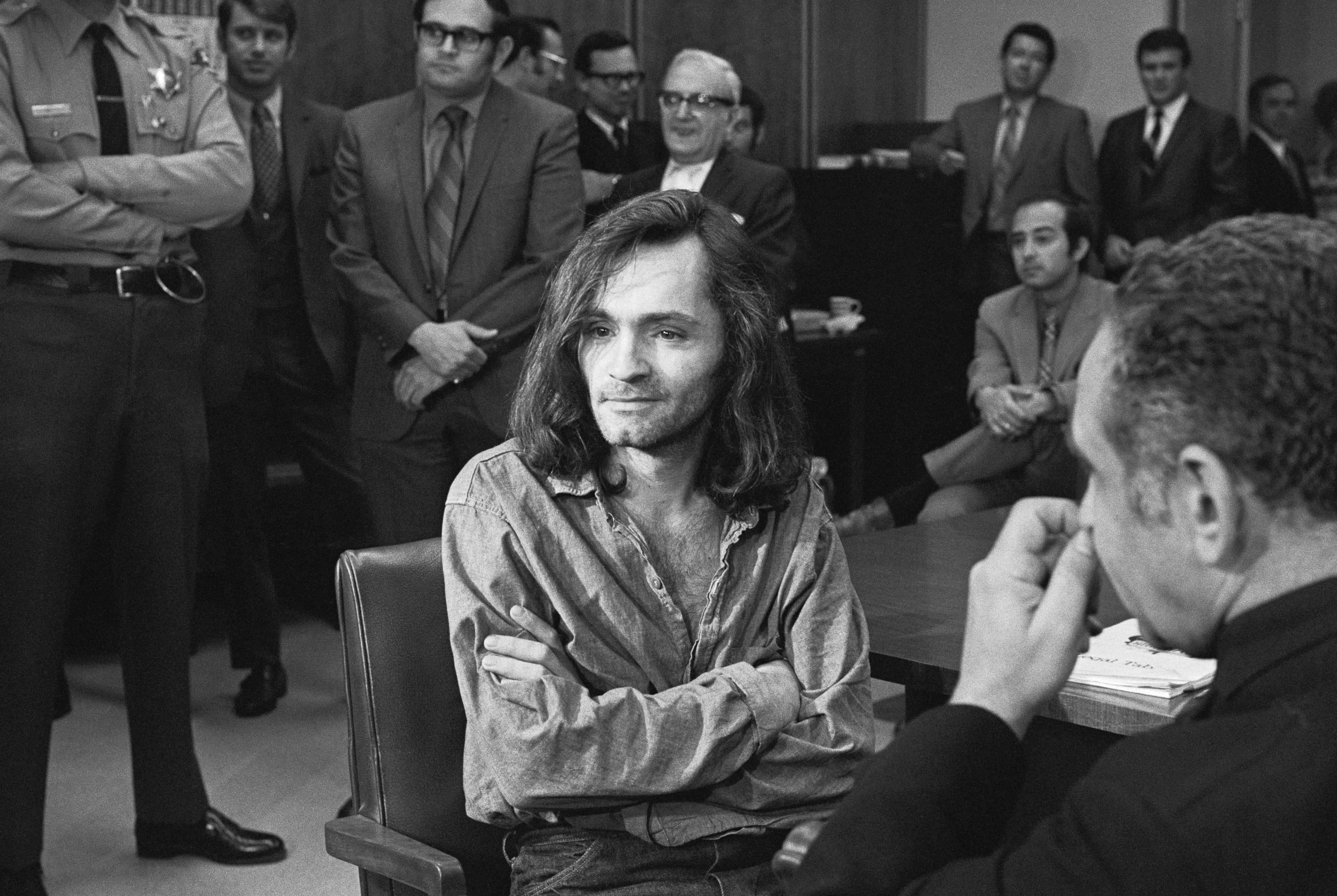 Charles Manson in Court.