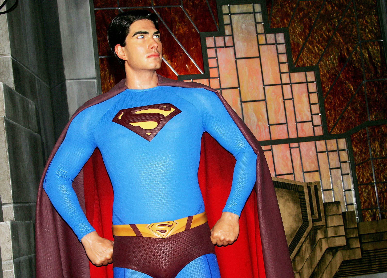 Brandon Routh Unveils Superman Wax Figure At Madame Tussauds.