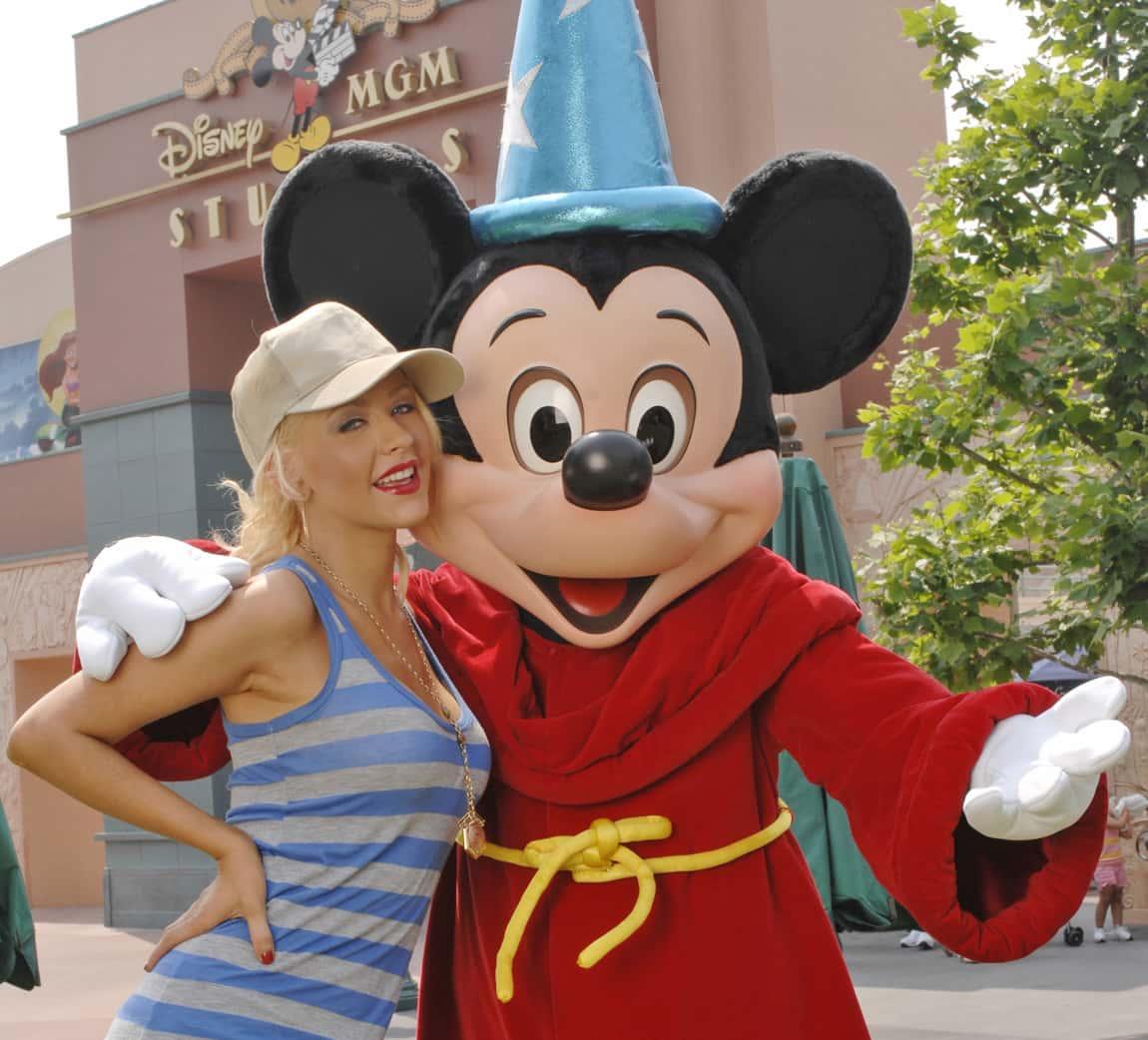 Christina Aguilera Visits Disney.