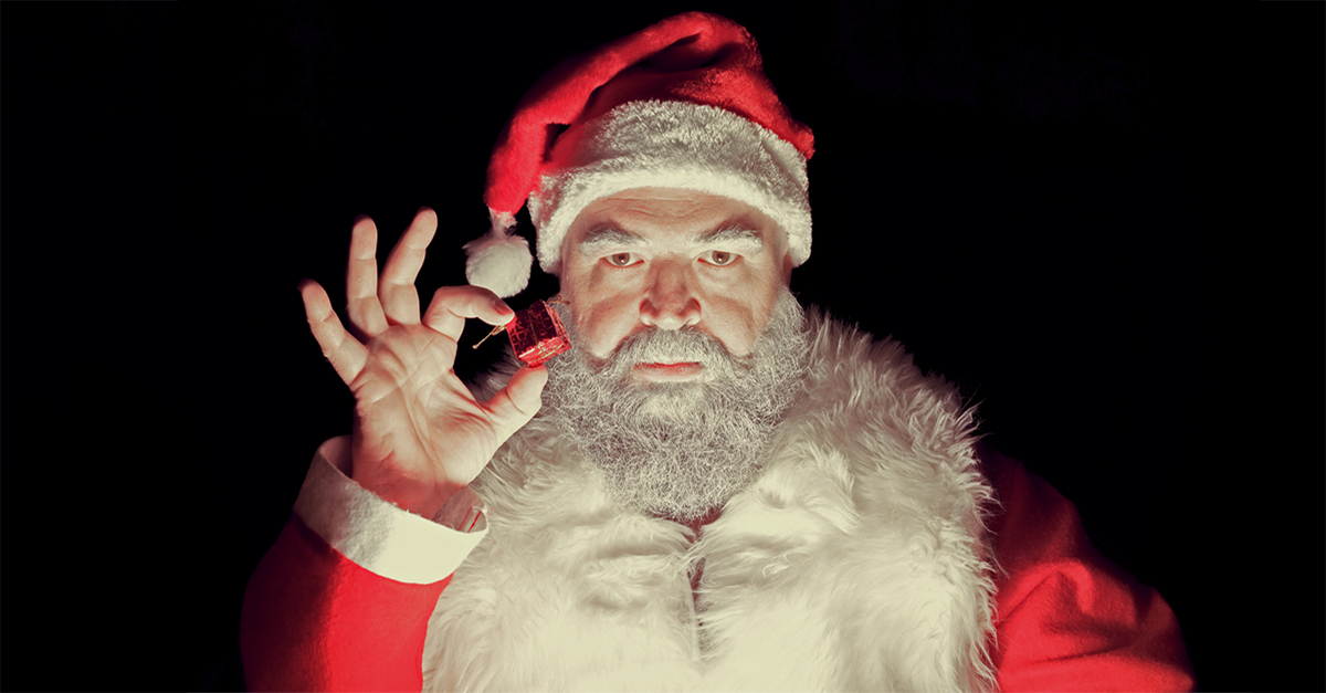 Nick 3 pc Instant Santa Claus Kit Hat Beard Moustache Square Glasses Jolly St