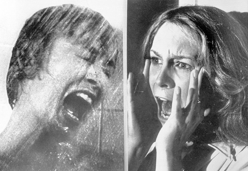 Janet Leigh and Jamie Lee Curtis Screaming