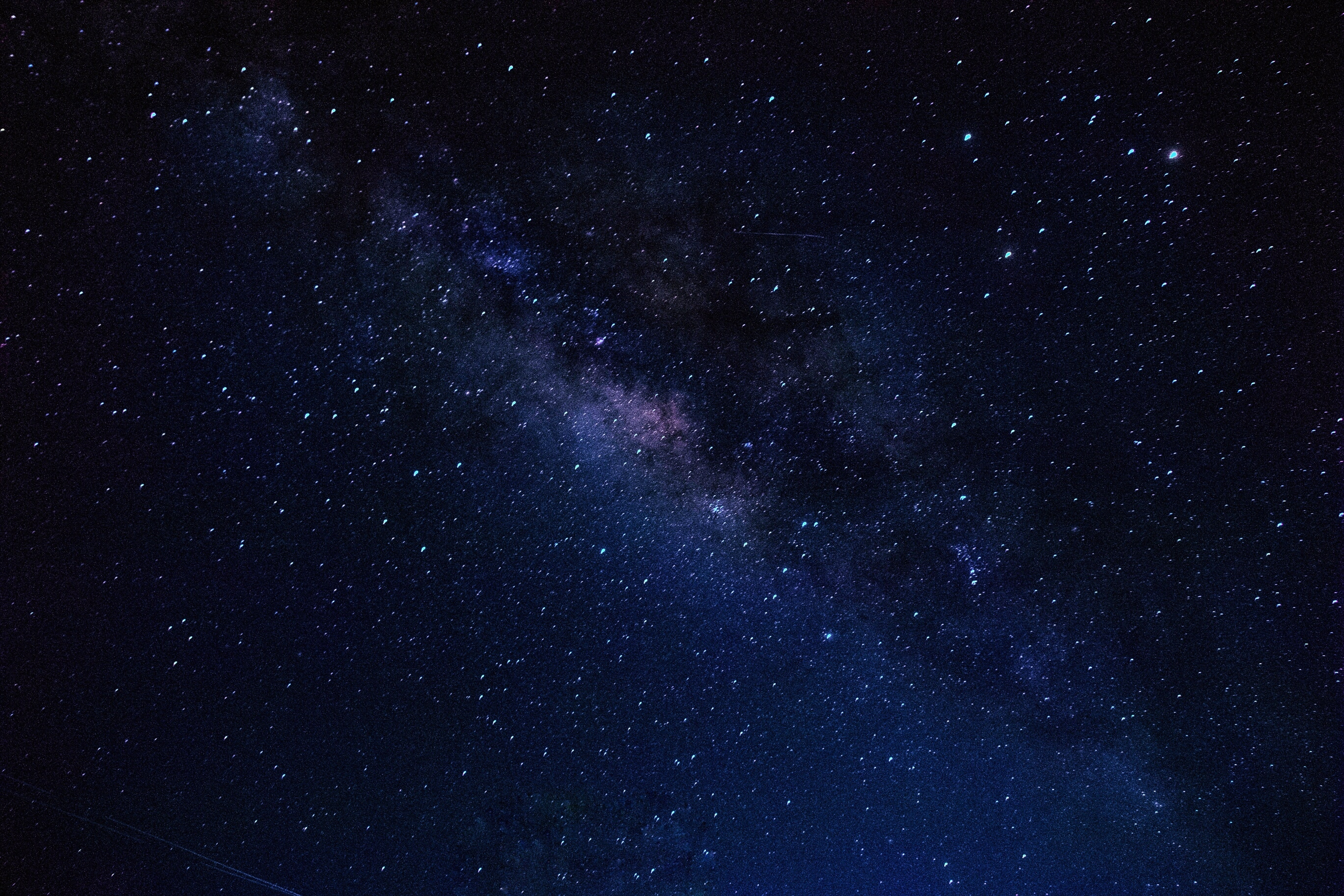 Low Angle View Of Star Field