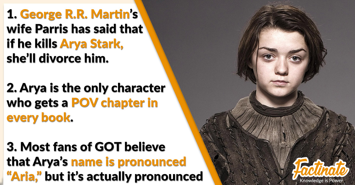 38 Fierce Facts about Arya Stark