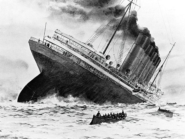 the sinking of the rms lusitania The long reach of war: the sinking of the rms lusitania the lusitania was sinking at a severe angle which meant most of its lifeboats couldn't be launched.