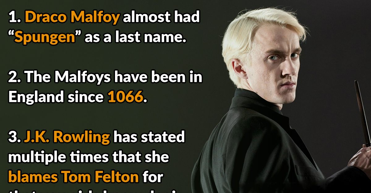 24 Proud Facts About Draco Malfoy - Page 4 of 25