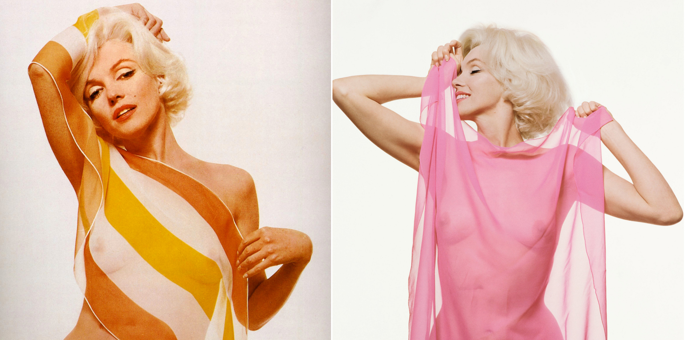 What's even more amazing is that iconic photographer Bert Stern took both  series of photographs, the original 1962 set, and Lohan's 2008 set.