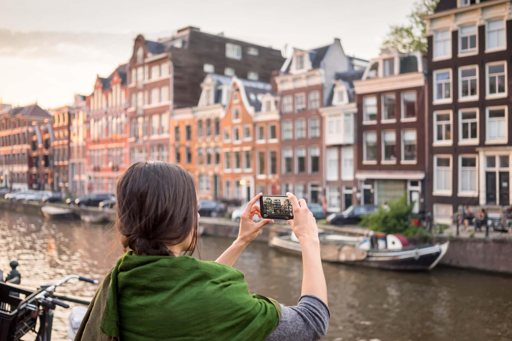 Taking Travel Memories in Amsterdam.