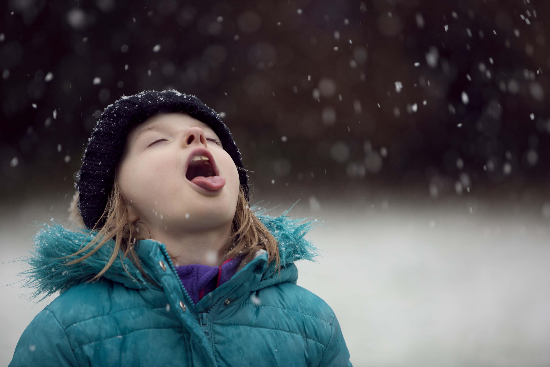 Kid on a Snow
