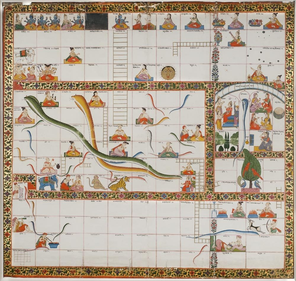 Ancient India Snakes and Ladders Fact