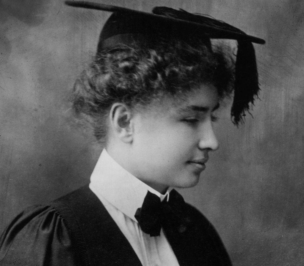 hellen keller biography Helen keller contracted a virulent childhood disease which resulted in complete loss of sight and hearing at nineteen months her parents futilely sought help for her, as did family friend alexander graham bell.