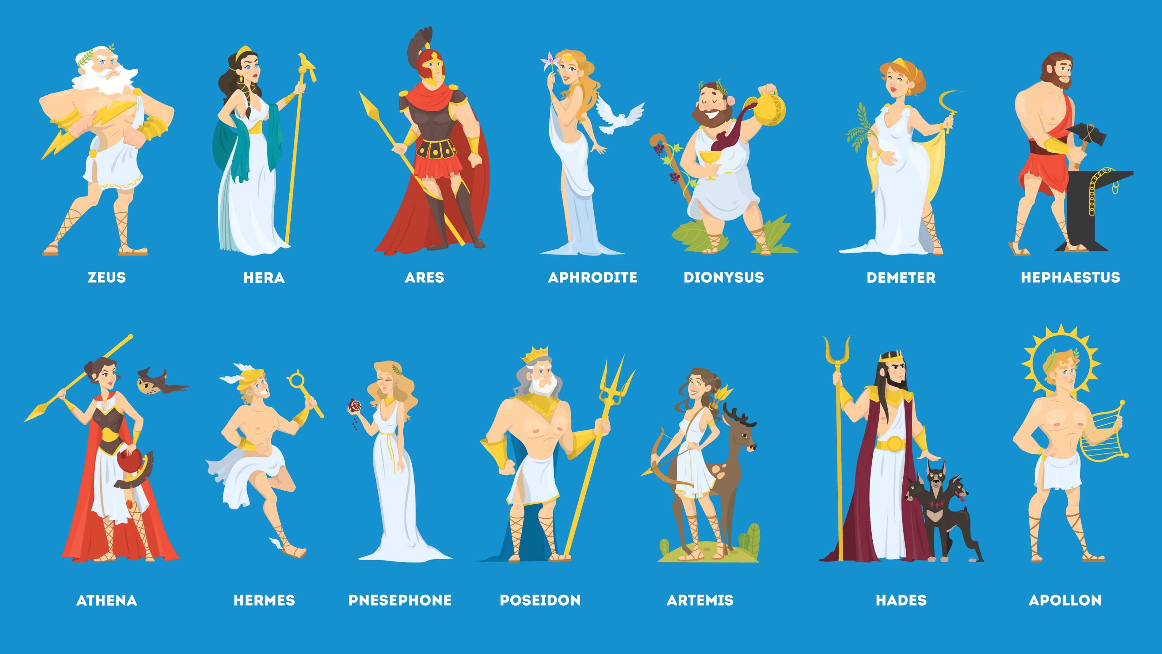 Greek Gods facts