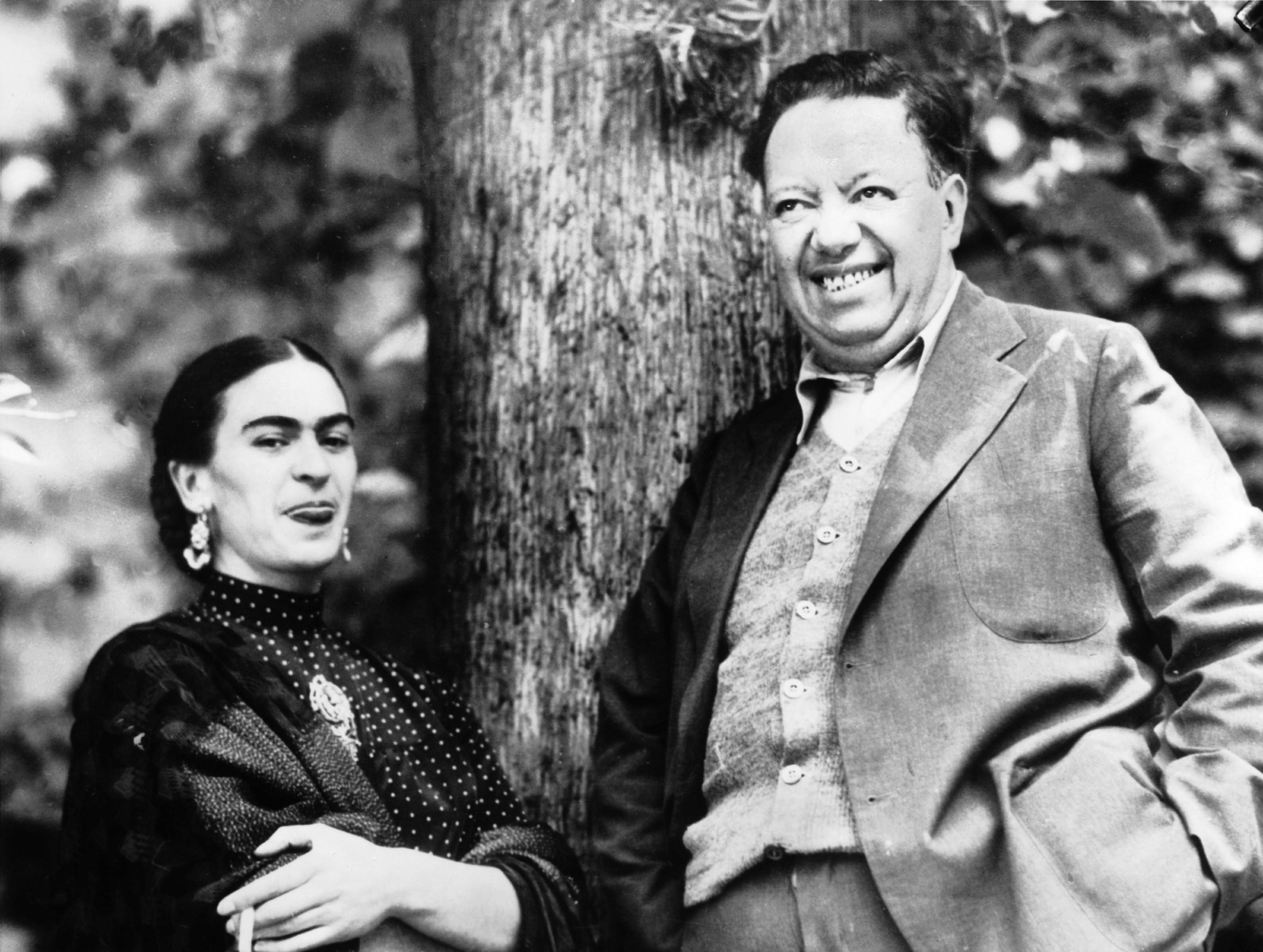 The Spouses And Painters Diego Rivera And Frida Kahlo In Mexico