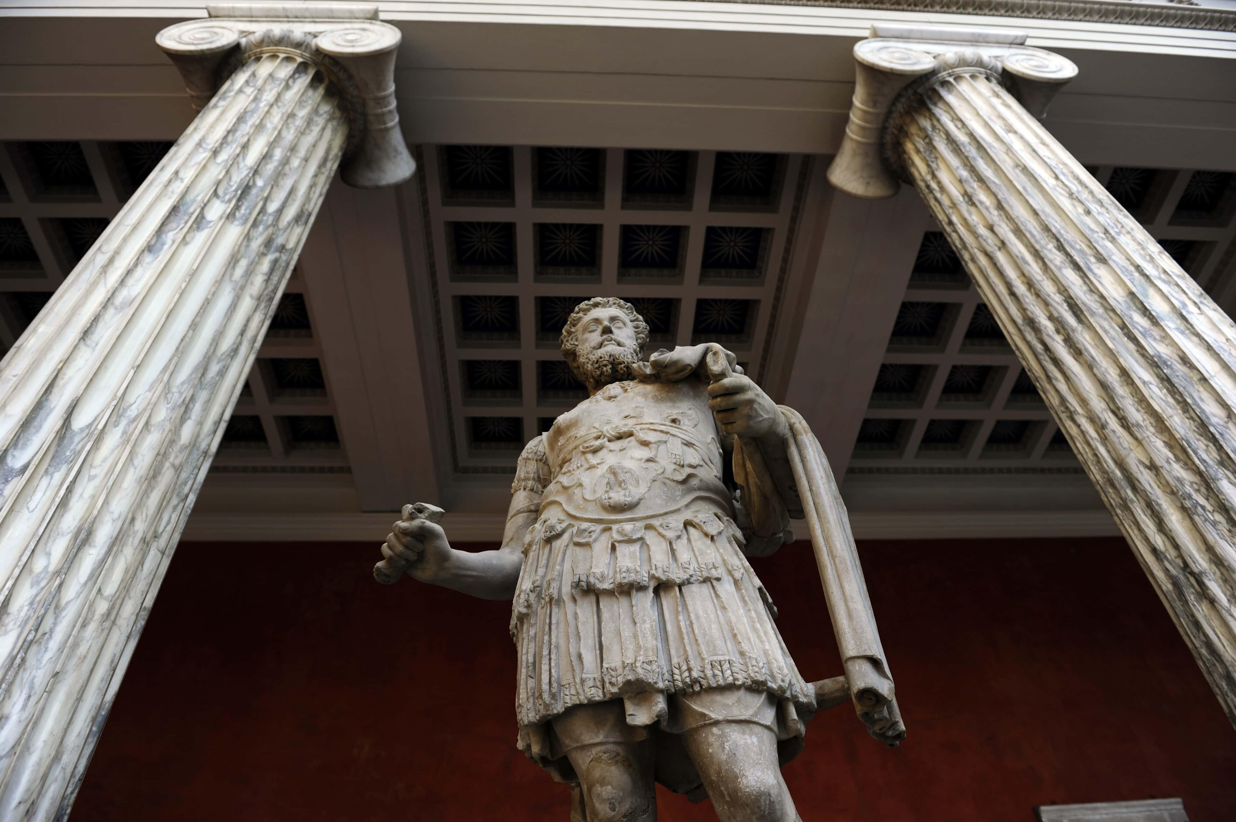 Marcus Aurelius (121-180). Roman emperor from 161 to 180. Ny Carlsberg Glyptotek. Denmark.