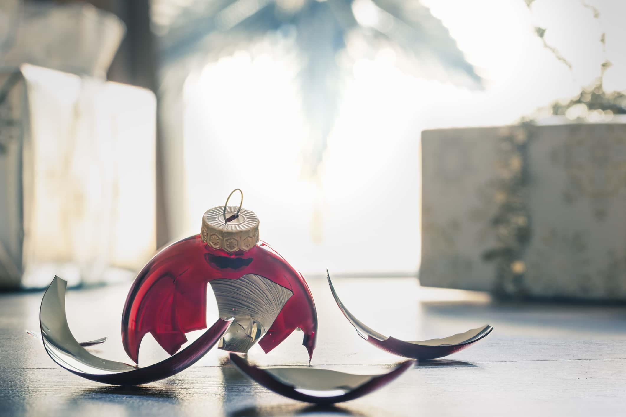 Broken christmas ornament.