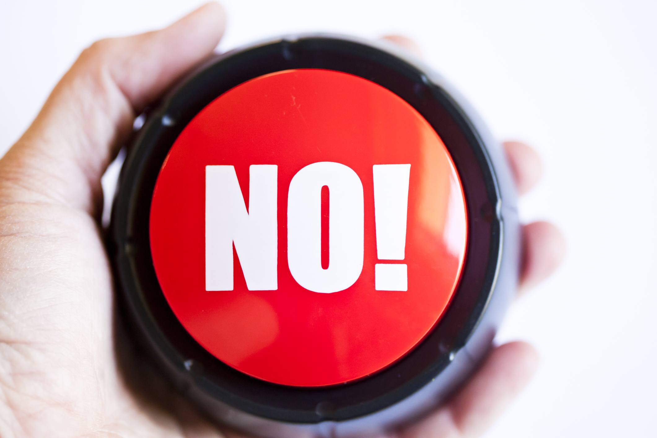 Red 'NO!' button.