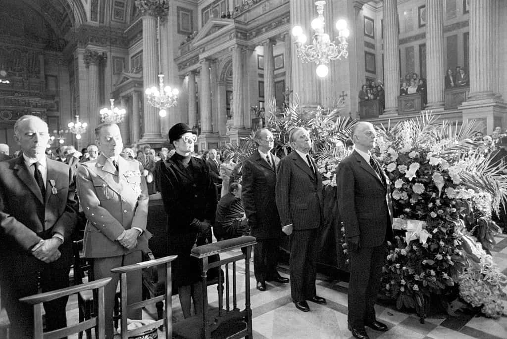 Dignitaries at Josephine Baker Funeral.