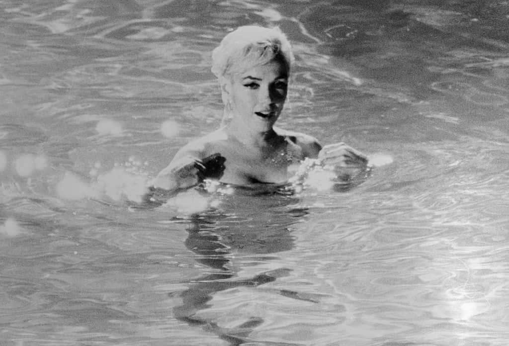 Marilyn Monroe Swimming Nude.