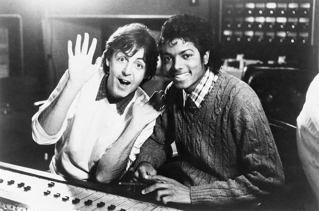 Paul McCartney with Michael Jackson.