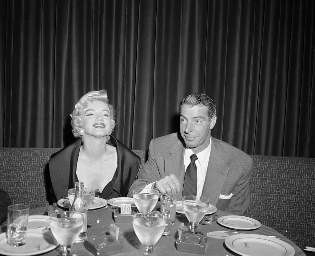 Marilyn Monroe and Joe DiMaggio Dining.