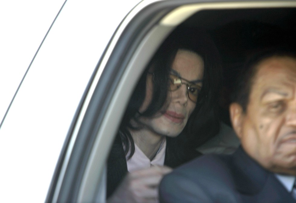 US pop icon Michael Jackson in his car.
