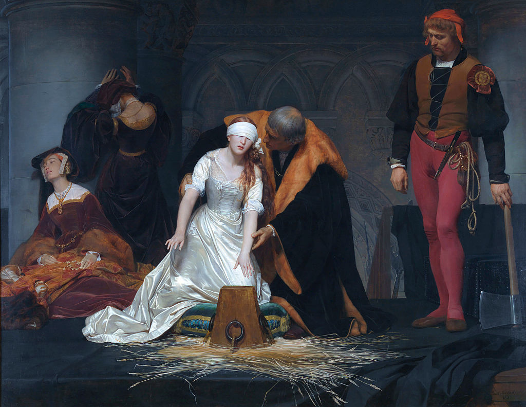 The Execution of Lady Jane Grey in the Tower of London in the Year 1554 by Paul Delaroche.
