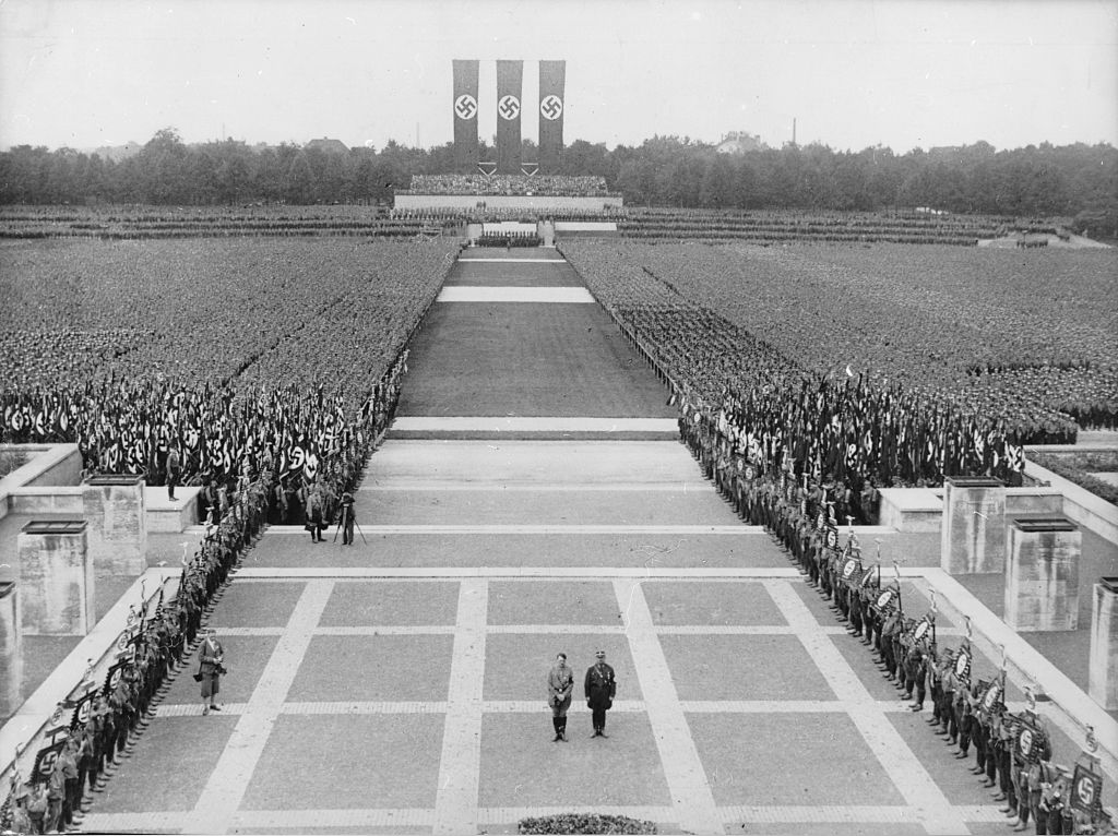 Germany, Third Reich - Nuremberg Rally 1933 Adolf Hitler (l) and Ernst Roehm (r).