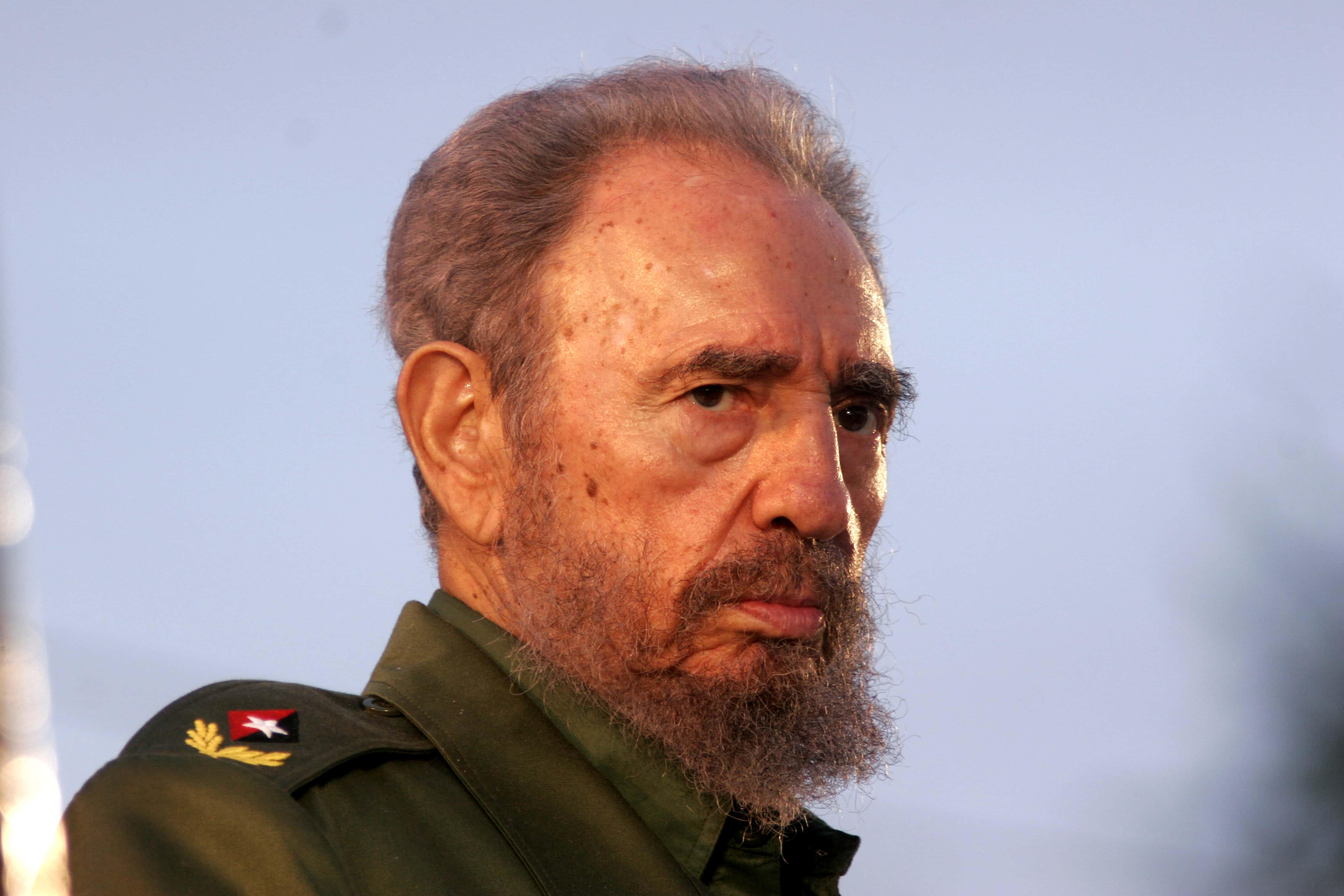 Fidel Castro Speaking In Holguin