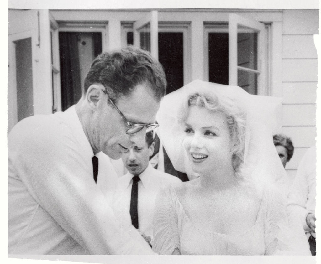 Marilyn Monroe and Arthur Miller After Marriage Ceremony.