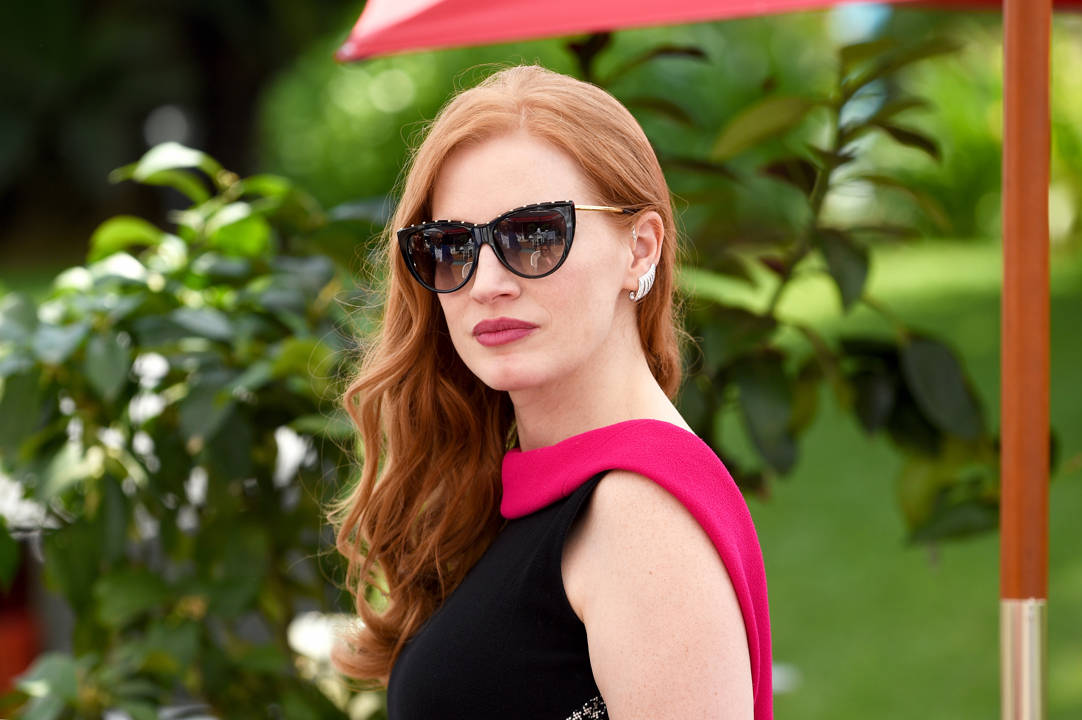 Jessica Chastain on the Grey Goose Terrace, Cannes, France.