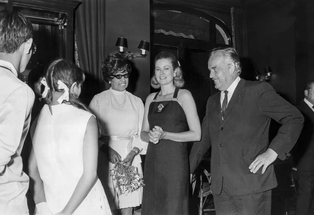 Joséphine Baker, le prince et la princesse de Monaco.