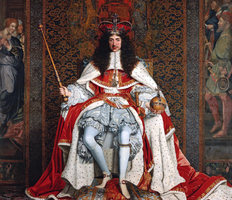 Painting of Charles II in  his coronation robes